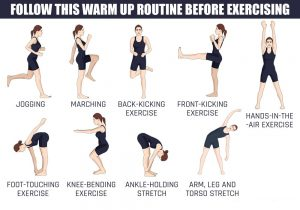 First basic rule of any exercise-WARM-UP